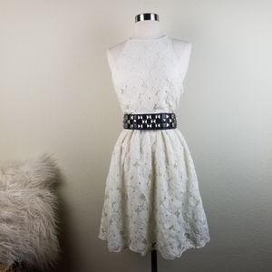 LC Lauren Conrad | Ivory Lace Sleeveless Dress 6